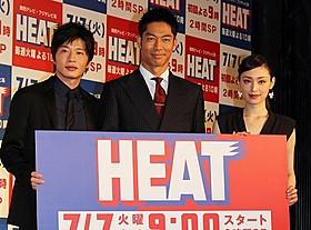 「SMAP」と「EXILE」のメンバートレードもアリ!? (左から)田中圭、「EXILE」AKIRA、栗山千明「HERO」