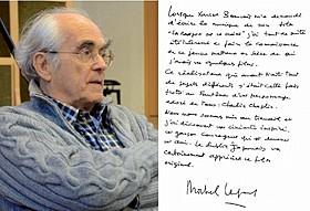 ミシェル・ルグラン直筆メッセージ「チャップリンからの贈りもの」