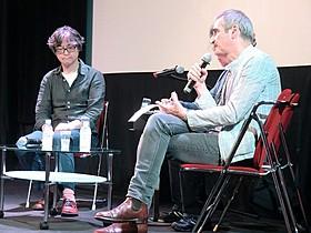 オリビエ・アサイヤス監督(右)と樋口泰人氏「アクトレス 女たちの舞台」