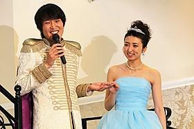 千原ジュニアと足裏美人シンデレラに選ばれた田幸春菜さん