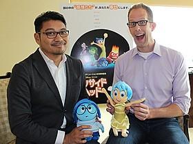 インタビューに応じた(左から)ロニー・デル・カルメン共同監督&ピート・ドクター監督「インサイド・ヘッド」