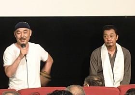 池谷薫監督(左)と中原一博氏「ルンタ」