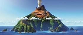 どこかさみしげな表情の火山島・ウク「インサイド・ヘッド」