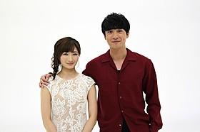 dTVオリジナル「進撃の巨人」に出演した渡部秀(右)と武田梨奈「進撃の巨人 ATTACK ON TITAN」