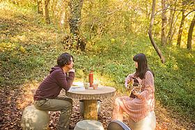 「森のカフェ」の一場面「森のカフェ」