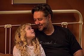 クロウとロジャーズは休憩時も親子のように接していたという「パパが遺した物語」