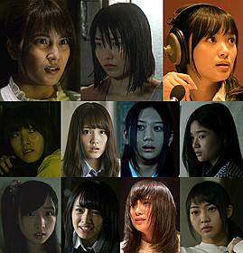 横山由依(上段中央)らが主演する 「劇場霊」スピンオフドラマが放送「劇場霊」