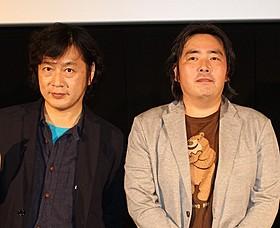 古橋一浩監督(左)と福井晴敏氏「機動戦士ガンダム 逆襲のシャア」