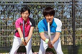 「金メダル男」で共演する内村光良と木村多江「金メダル男」