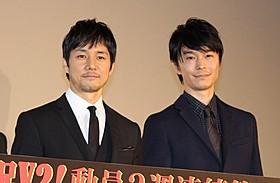 共演した西島秀俊と長谷川博己「劇場版 MOZU」