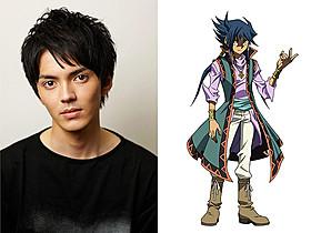 林遣都(左)が声優を務める謎の少年・藍神「遊☆戯☆王」