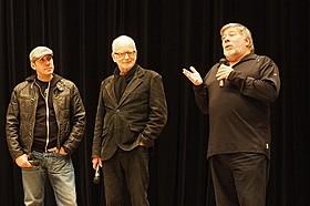 イベントに登壇したレイ・パーク(左)、 イアン・マクダーミド(中央)、スティーブ・ウォズニアック氏(右)「スター・ウォーズ」