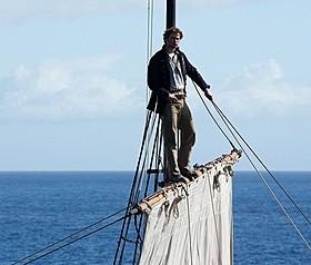 主人公のオーウェンは航海早々、手腕を発揮する「白鯨」