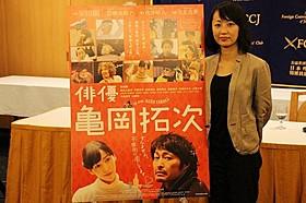 外国人記者の質問に答えた横浜聡子監督「俳優 亀岡拓次」