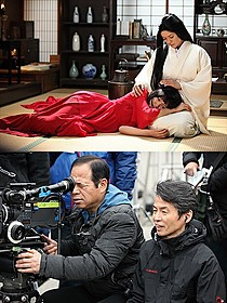 なまめかしさを感じさせる女優陣(写真上)と、 石井岳龍監督(写真下)「蜜のあわれ」