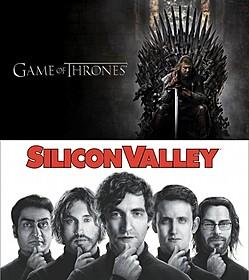 「ゲーム・オブ・スローンズ」(写真上) 「Silicon Valley(原題)」(写真下)「セックス・アンド・ザ・シティ」