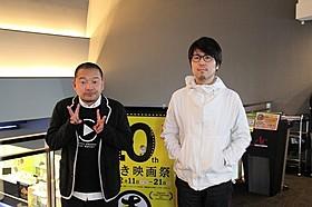 サービス精神たっぷりのトークで場内を 盛り上げた大根仁監督(左)と川村元気氏「モテキ」
