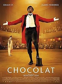 オマール・シー主演、実在の黒人道化師を描いた 「Chocolat」ポスター「最高の花婿」