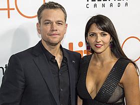 マット・デイモンと妻ルシアナ・バロッソさん「スパイダーマン」