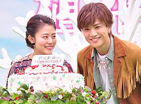 27歳になった岩田剛典とケーキで祝福した高畑充希「植物図鑑 運命の恋、ひろいました」