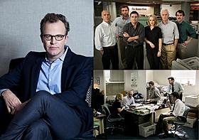 監督、脚本家、俳優とマルチな才能を 発揮するトム・マッカーシー監督(写真左)「スポットライト 世紀のスクープ」