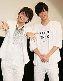 普段とは違うキャラクターを演じた 水野勝(右)と小林豊「同級生」