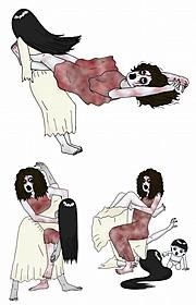 呪力ではなく暴力で対決「貞子vs伽椰子」
