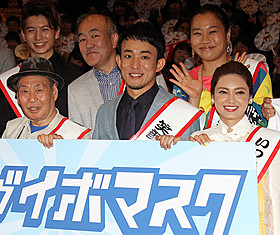 初主演映画への思いを語ったファンキー加藤(中央)「サブイボマスク」