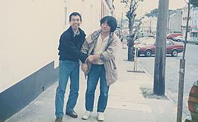 若き日の鈴木プロデューサー(左)と押井監督(右)「ガルム・ウォーズ」
