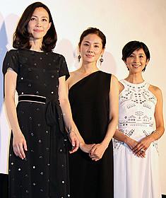 舞台挨拶に立った黒木瞳監督と 主演を務めた吉田羊&木村佳乃「嫌な女」