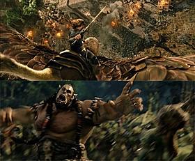 ダイナミックな戦闘シーンが随所で繰り広げられる「ウォークラフト」