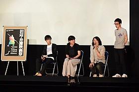 (左から)柴野監督、石橋監督、甲斐監督、松本監督「モラトリアム・カットアップ」
