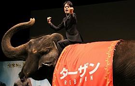 ゾウの扱いも手慣れた様子「ターザン:REBORN」