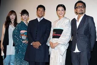 舞台挨拶に立った駿河太郎、小宮有紗、黒谷友香ら「夢二 愛のとばしり」