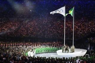 リオ五輪開会式の模様