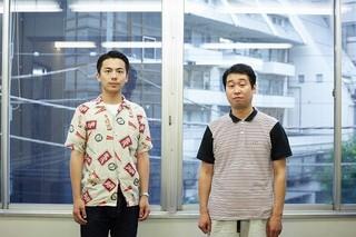 森岡龍(左)と前野朋哉「エミアビのはじまりとはじまり」