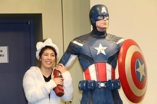 ガールズトークを繰り広げた吉田沙保里選手「シビル・ウォー キャプテン・アメリカ」