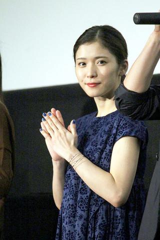 舞台挨拶に立った松岡茉優「映画 聲の形」