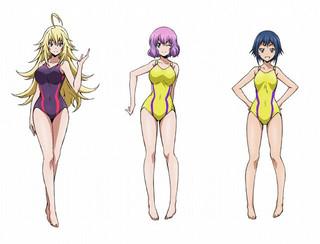 キャストが発表されたエリートクラス のキャラクター(左から)日下生美桜、 河合花火、六堂鈴「俺物語!!」