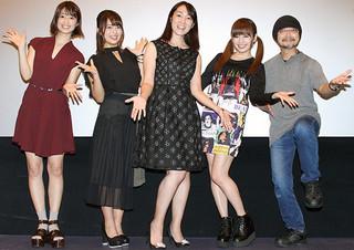 舞台挨拶に立った森田亜紀、平嶋夏海ら「メイクルーム」