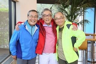 一堂に会した(左から)小野武彦、北村総一朗、斉藤暁「グッドモーニングショー」
