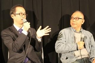 犬童一心(右)と山内章弘氏「ゴジラ」