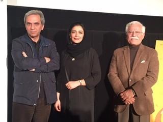 (左から)モーセン・アブドルワハブ監督、 女優のエルハム・コルダ、プロデューサーの アリ・アスガル・ヤグゥビ氏「誕生のゆくえ」