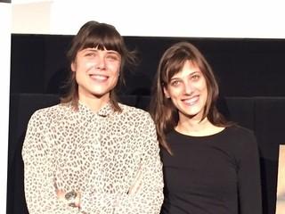 (左から)ハナ・ユシッチ監督、 主演のミア・ペトリチェビッチ「私に構わないで」