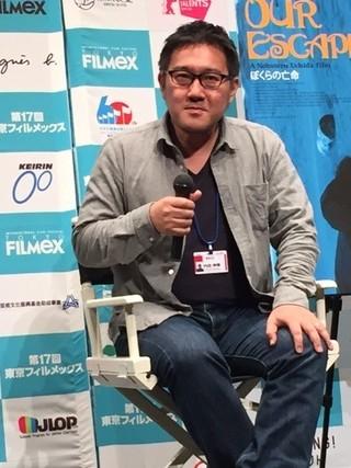 ティーチインを行った内田伸輝監督「ぼくらの亡命」