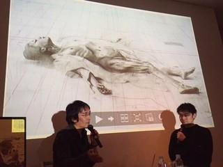 画家の諏訪敦氏(左)と「美術手帖」編集長の岩渕貞哉氏「エヴォリューション」