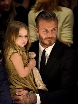 ベッカムと娘のハーパーちゃん「くるみ割り人形」