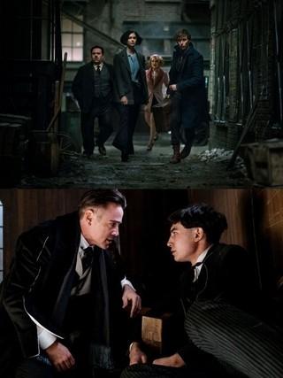 キーキャラクターを演じたエズラ・ミラー(写真下の右)「ファンタスティック・ビーストと魔法使いの旅」