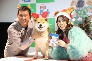 飼い主の小野慎二郎さんと一緒に「ペット」