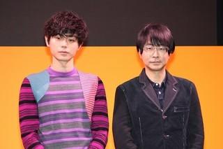 登壇した菅田将暉(左)「帝一の國」